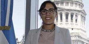 Josefina Mendoza en el Congreso de la Nación