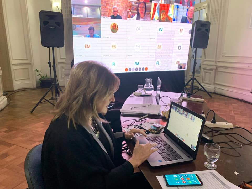 Lidia Ascárte en comisión online
