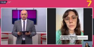 Entrevista Josefina Mendoza Canal 7 de Jujuy